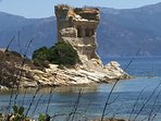 St Florent coastal path.  Drive over the Desert Des Agriates to St Florent and walk the coastal path