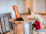 Welcome Champers for guests