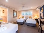 The Cockatoo Room which could be a king Bed or 3 singles