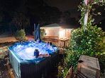 Outdoor Spa which can be set to hot or cold