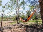 Hunter Moon's secret hammocks dotted around the property