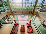 Vast living space with views across Chalong Bay to Big Buddha.