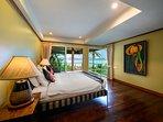 Master bedroom suite enjoys double aspect sea views, large sofa, walk-in closet, en-suite & balcony.