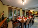Formal dining or enjoy a BBQ and casual dining around the pool.