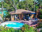 Beautiful Mayan Ocean, and Pool front! 2 bed/2 bath. Carvings, paintings, stone- big kitchen/living!