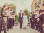 A guard of honour for the Bride and Groom