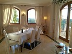 'Dolce Vita' Private Dining room has A/C and Panoramic view