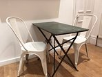 French style table and seating in the kitchen