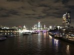 View of London from Waterloo Bridge, which is a 20 minute walk from the apartment