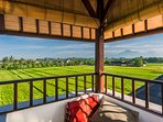 a stunning rice field view and ocean view can be enjoyed from the Tower