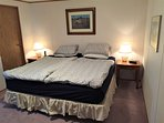 Master bedroom King bed, 3 pce ensuite bath, walk-in closet