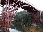The Iron Bridge. Just finished being renovated The house is right near the Iron Bridge