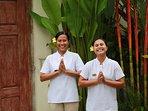 Our lovely staff - Ketut & Komang