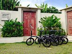 We have 4 bicycles for your use, free of charge