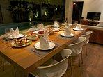 Dinner prepared by our lovely staff - Ketut & Komang