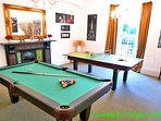 Dining room can be converted into an all fun games room with table tennis and pool tables