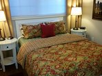 Along with the seasons, The Cottage bedding and artwork change too-winter holiday season shown here.