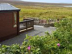 The lodge provides uninterrupted views to the loch and moors.