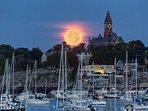 Moonrise over Marblehead