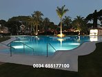 At night the main pool also looks magnificent !!
