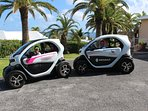 Rent a, 'Twizy' ! An electric car with room for 2 persons. We have charging facilities on property.