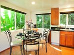 Dining for 4 people Surrounded by Lush Tropical Foliage!