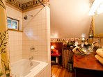 Full Bathroom, Jacuzzi tub, large counter-top, so relaxing!