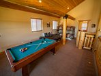 16-Pool Table, Bunk Beds and Day Bed in Loft.