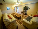 24-Basement Movie Room. HDTV with Surround + Satellite, Blu-Ray, XBOX ONE.