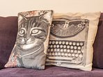 We love fun funky cushions at Benson Cottage