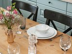 All crockery, cutlery and glasses for a large sophisticated meal to an informal fun Sunday brunch