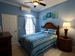 Blue Bedroom Queen Bed