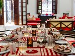 No.39 Galle Fort - Elegant table setting