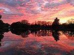 Sunset sur le lac
