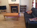 Sittingroom with gas fire