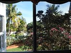 View from master bedroom window (screened-in lanai at left)