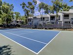 Court has been recently resurfaced and is well maintained