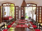 No.39 Galle Fort - Dining area layout