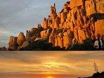 scorcio delle spettacolari rocce di granito rosso del Golfo di Costa Paradiso
