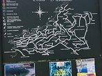 mappa del villaggio di COSTA PARADISO, posto all'ingresso