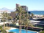 Vistas de la bahía de Alicante desde la terraza del apartamento