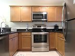 Beautifully remodeled kitchen with all new stainless steel appliances