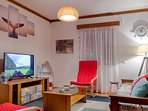 Sala de estar: Como é bom chegar ao conforto de casa, depois de um dia de aventuras pela ilha.