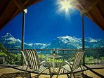 Apartment C Covered Front Balcony with Breathtaking Panoramic Views of Engelberg and Mountains