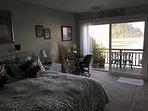 Master Bedroom; King Bed and Deck View