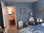 Blue Bedroom; Queen Bed