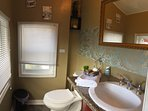 small powder room right off the bonus game/breakfast area off the large wrap around deck