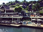 View of the Marigot Bay Resort, right next door to our apartment
