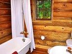 3-piece bath includes a clawfoot tub