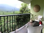our balcony opens to the mesmerising views of Chembra peak